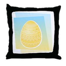 YELLOW EASTER EGG Throw Pillow