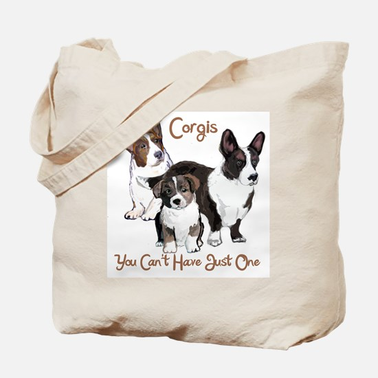 Cardigan corgi family Tote Bag