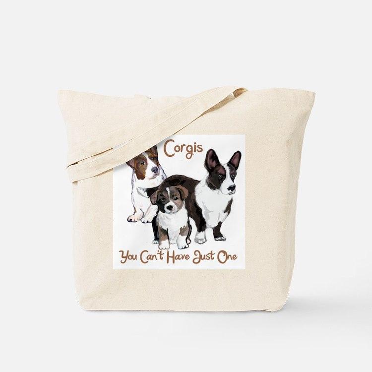 Cardigan corgi family Tote Bag