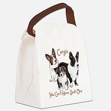 Cardigan corgi family Canvas Lunch Bag