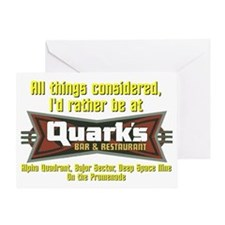 Id Rather Be At Quarks Greeting Card
