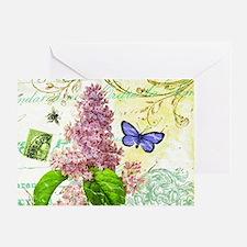 Modern vintage French botanical lila Greeting Card
