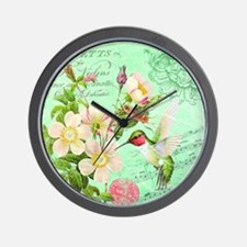 Modern vintage french hummingbird Wall Clock