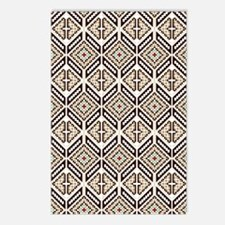 Ethnic Pattern Postcards (Package of 8)