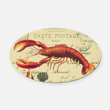 vintage French postcard with lobst Oval Car Magnet