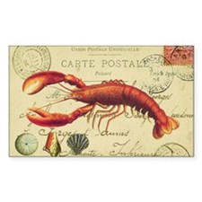 vintage French postcard with l Decal