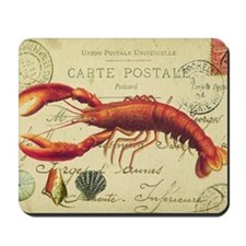 vintage French postcard with lobster Mousepad