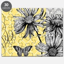 Modern vintage floral collage Puzzle