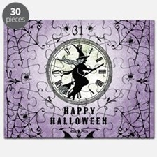 Modern Vintage Halloween Witching Hour Puzzle