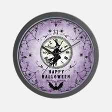 Modern Vintage Halloween Witching Hour Wall Clock