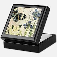 modern vintage French butterflies and Keepsake Box