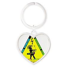 Electric Spartan Warrior Zombie Pri Heart Keychain