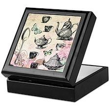 Vintage French Garden tea party Keepsake Box