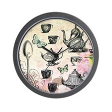 Vintage French Garden tea party Wall Clock