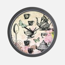 Vintage French Garden tea party Wall Clock