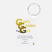 Gods Golden Girl Keychains
