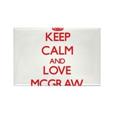 Keep calm and love Mcgraw Magnets