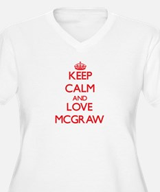 Keep calm and love Mcgraw Plus Size T-Shirt