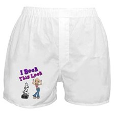 Bald Beautiful Girl Boxer Shorts