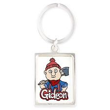 Gideon + name Portrait Keychain