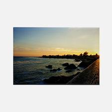 West Cliff Sun Set Rectangle Magnet