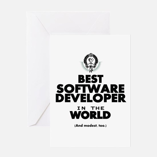 The Best in the World Software Developer Greeting