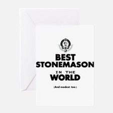 The Best in the World Stonemason Greeting Cards