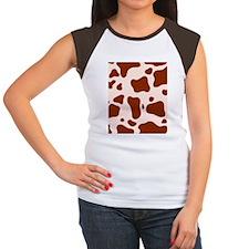 shower cow brown flip Women's Cap Sleeve T-Shirt