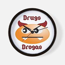 Drug/Drogas Wall Clock