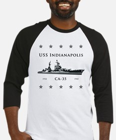 USS Indianapolis Stars above and b Baseball Jersey