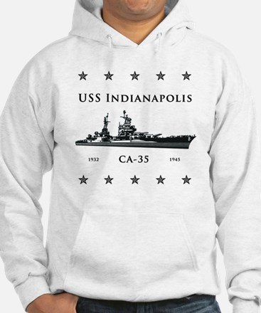 USS Indianapolis Stars above and Hoodie