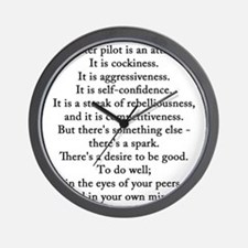 Robin Olds Quote Wall Clock