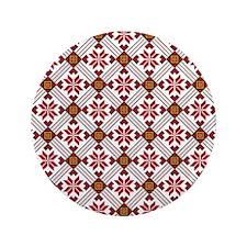 "Ethnic Pattern 3.5"" Button"