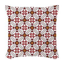 Ethnic Pattern Woven Throw Pillow