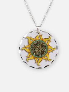Mosaic Sun Necklace