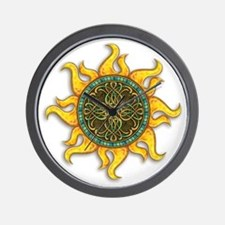 Mosaic Sun Wall Clock