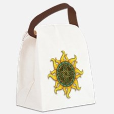 Mosaic Sun Canvas Lunch Bag