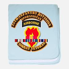 Army - 25th ID w Afghan Svc baby blanket