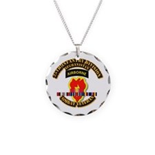 Army - 25th ID w Afghan Svc Necklace