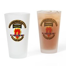 Army - 25th ID w Afghan Svc Drinking Glass