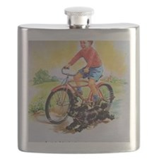 Vintage Bike Boy Flask