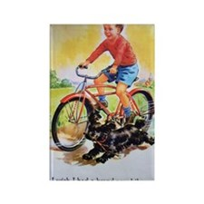 Vintage Bike Boy Rectangle Magnet