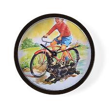 Vintage Bike Boy Wall Clock