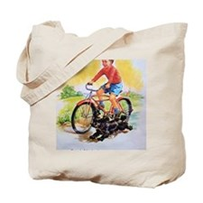 Vintage Bike Boy Tote Bag