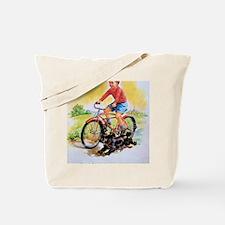 Vintage Bike Boy Tote Bag