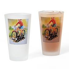 Vintage Bike Boy Drinking Glass