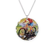 Vintage Bike Boy Necklace