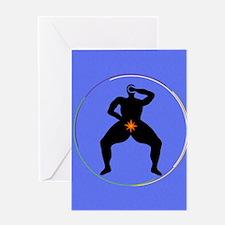 Spiraling Circles Greeting Card