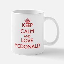 Keep calm and love Mcdonald Mugs