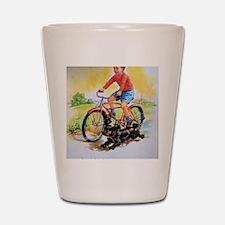 Vintage Bike Boy Shot Glass